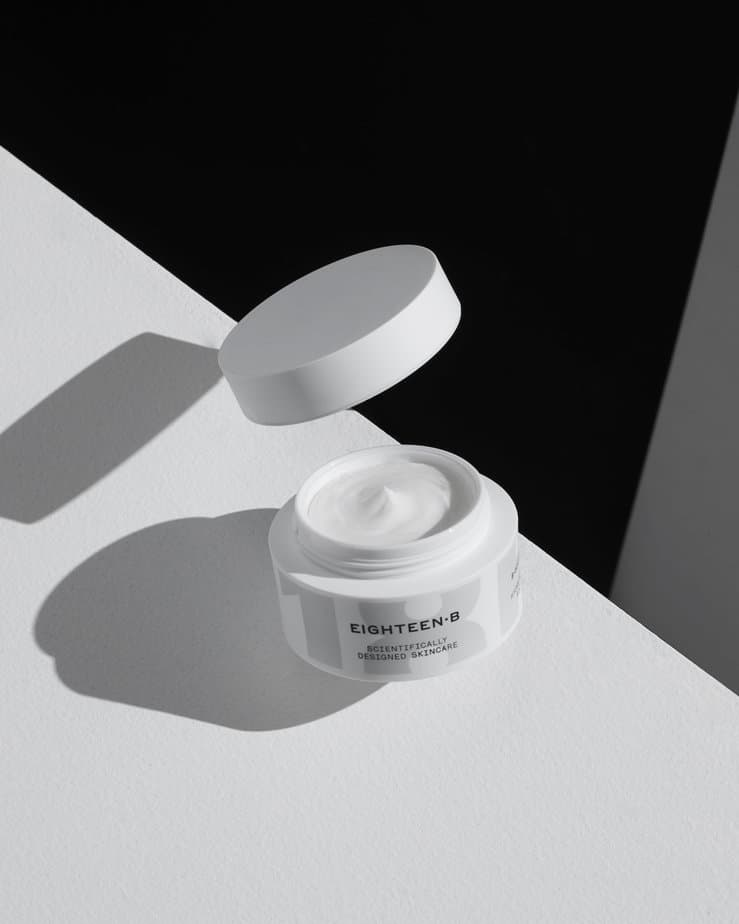 Eighteen BHydrate + Restore Rich Cream - The hunt for a moisturizer that has the richness of a cold creme but the lightness of an essence was near impossible. But for Chief Scientific Officer Lindsay Wray, PhD, it's all about the science. Eighteen B which launched on market guns blazing has started to rewrite the conversation about effective moisture products. This rich cream delivers an immediate hydration boost as well as long-term restorative firming, visible lifting, and increased elasticity; diminishing the look of fine lines and wrinkles. And the science doesn't lie, on the website, you can research every component that enters the moisturizers life-cycle. From our editors standpoint, we were shocked how cooling the formula was. When building the product up on the skin, apply in multiple light layers instead of one glob of product—this way you can achieve your optimal level of hydration.// Eighteen B, Hydrate + Restore Rich Cream, $95